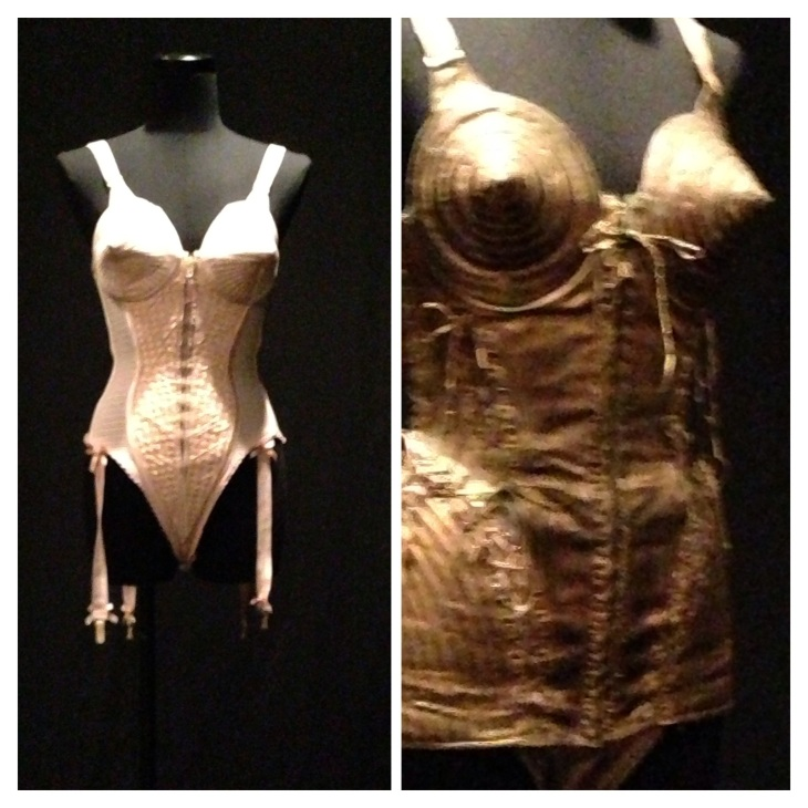These are the famous cone bras that Madonna wore in the blonde ambition tour