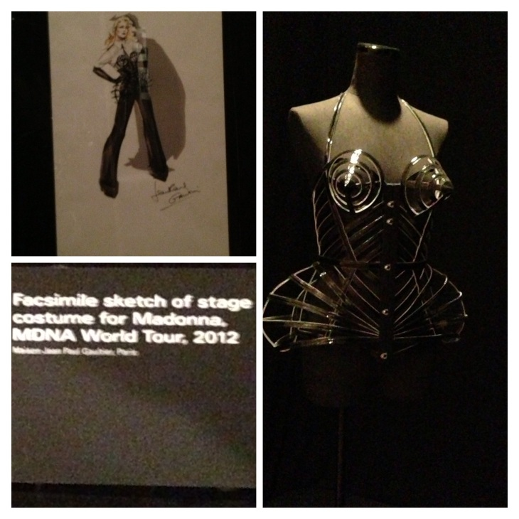 sketch and costume of Madonna tour