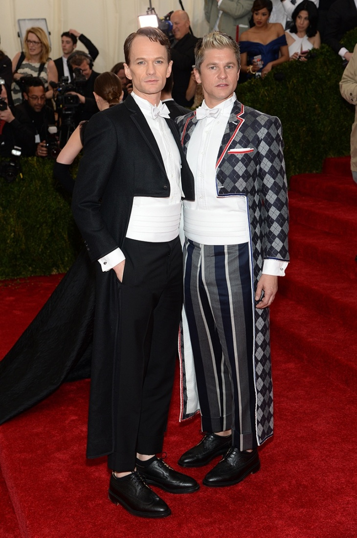 Neil Patrick Harris and David Burtka in Thom Browne