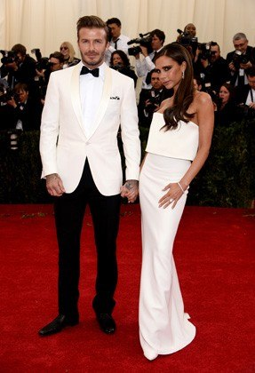 Victoria Beckham in Victoria Beckham and David Beckham in Ralph Lauren