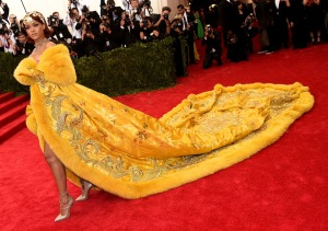 Rihanna in a Guo Pei gown