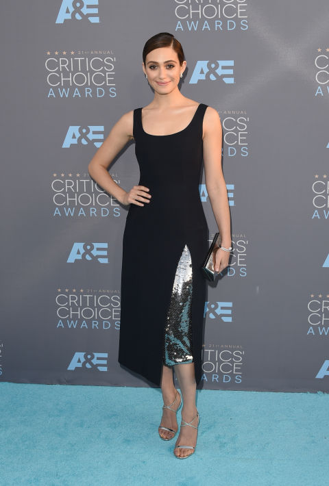 EMMY ROSSUM in Dior