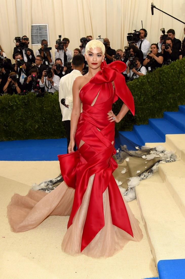 Rita Ora in custom Marchesa
