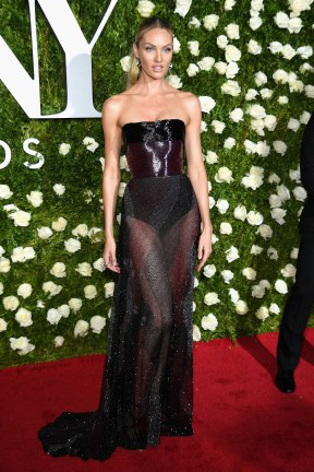 Candice Swanepoel in Prabal Gurung