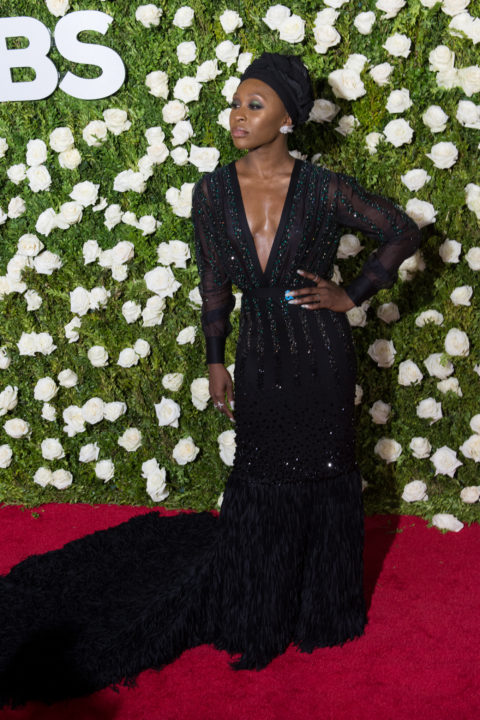 Cynthia Erivo in a Chris Gelinas gown