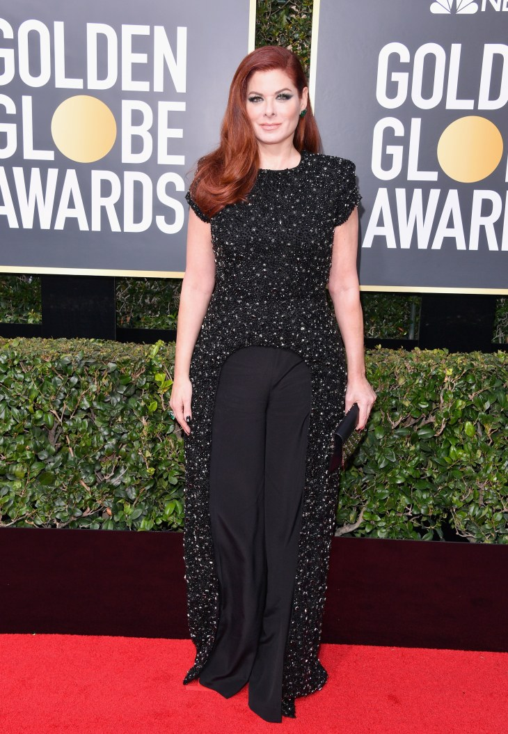 Debra Messing in Christian Siriano