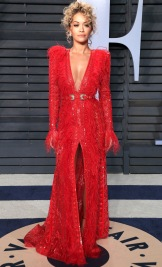 Mandatory Credit: Photo by Matt Baron/Shutterstock (9448428lk) Rita Ora Vanity Fair Oscar Party, Arrivals, Los Angeles, USA - 04 Mar 2018