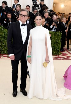 Colin Firth and Livia Firth in Giambattista Valli