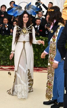 Lana Del Rey and Jared Leto, both in Gucci