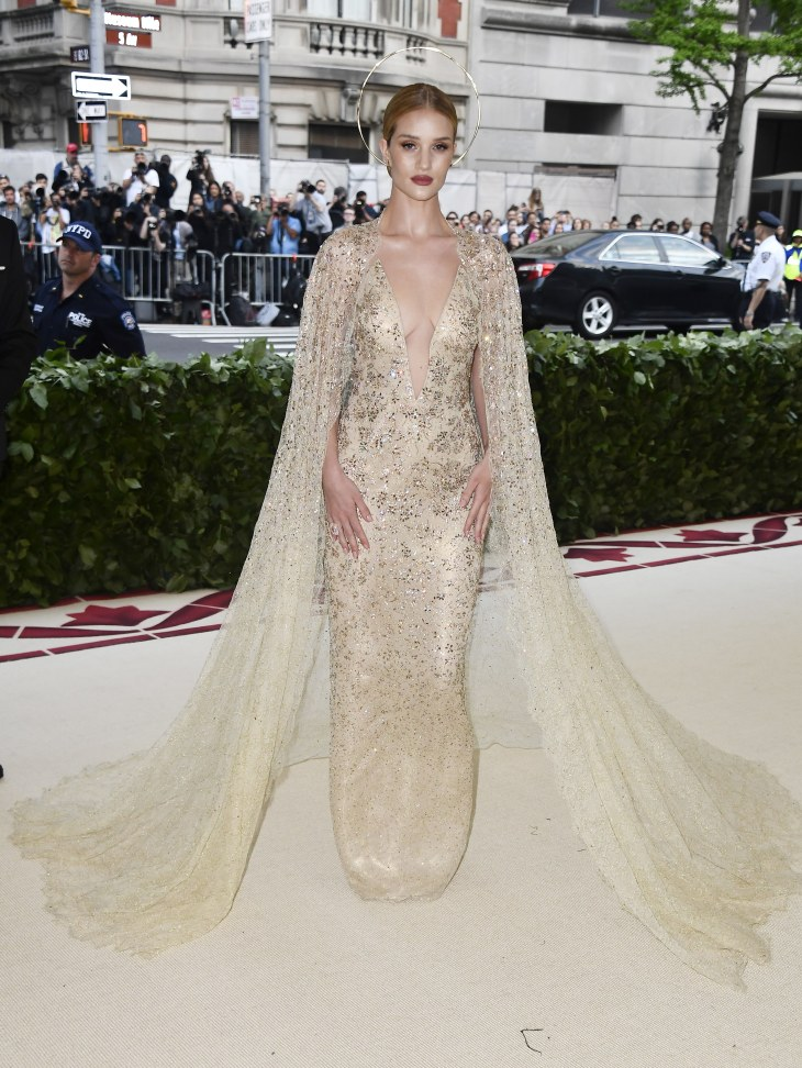 Rosie Huntington-Whiteley in custom Ralph Lauren Collection
