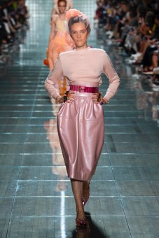 You have to love a pink leather skirt from Marc Jacobs