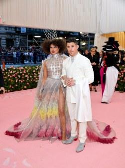 Pryanka Chopra and Nick Jonas in Dior